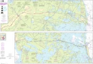 thumbnail for chart Barataria and Bayou Lafourche Waterways Intracoastal Waterway to Gulf of Mexico