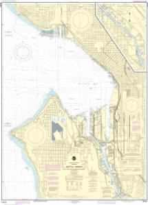 thumbnail for chart Seattle Harbor, Elliott Bay and Duwamish Waterway