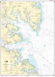 thumbnail for chart Chesapeake Bay Mobjack Bay and York River Entrance