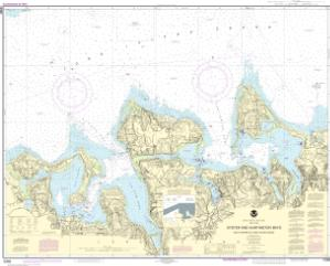 thumbnail for chart South Shore of Long Island Sound Oyster and Huntington Bays