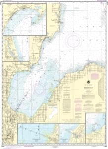 thumbnail for chart Saginaw Bay;Port Austin Harbor;Caseville Harbor;Entrance to Au Sable River;Sebewaing Harbor;Tawas Harbor