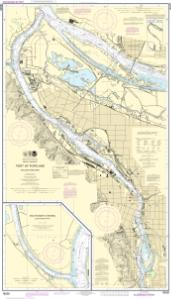 thumbnail for chart Port of Portland, Including Vancouver;Multnomah Channel-southern part