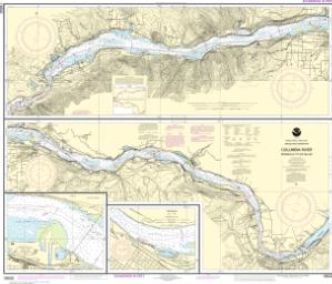 thumbnail for chart Columbia River Bonneville To The Dalles; The Dalles; Hood River