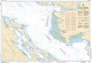thumbnail for chart Strait of Georgia, Southern Portion/Partie Sud