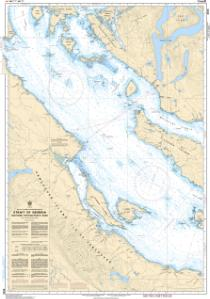 thumbnail for chart Strait of Georgia, Northern Portion/Partie Nord
