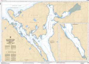 thumbnail for chart Malaspina Inlet, Okeover Inlet and/et Lancelot Inlet