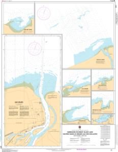 thumbnail for chart Harbours in Great Slave Lake / Havres dans le Grand Lacs des Esclaves - South Shore / Côte sud