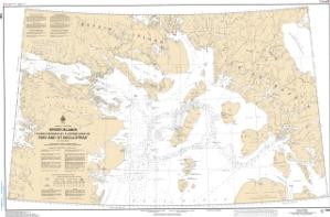 thumbnail for chart Spicer Islands to West Entrance of/ à LEntrée Ouest de Fury and/et Hecla Strait