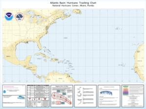 thumbnail for chart Atlantic Basin Hurricane Tracking Chart